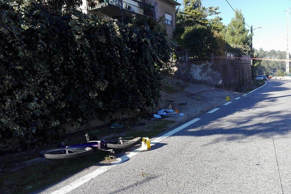 Ciclista morre em colisão frontal em Gondemaria, Ourém