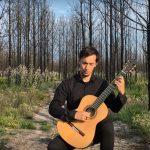 """Guitarrista Ricardo Alves Pereira gravou """"O mito de Arion"""" no Pinhal de Leiria"""