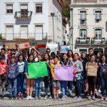 Alunos de Leiria voltaram a fazer greve pelo clima mas a adesão foi reduzida