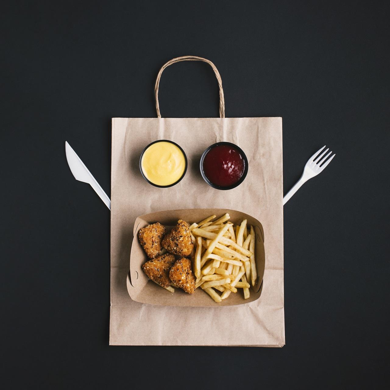 Restaurante entregam comida