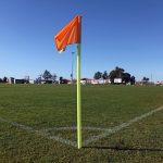 bandeirola de canto de campo de futebol