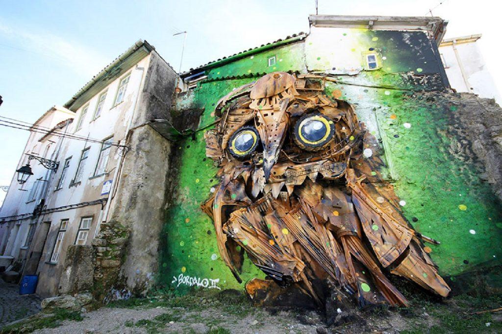 O trabalho de Bordalo II vai fazer parte do Festival de Arte Urbana das Caldas da Rainha
