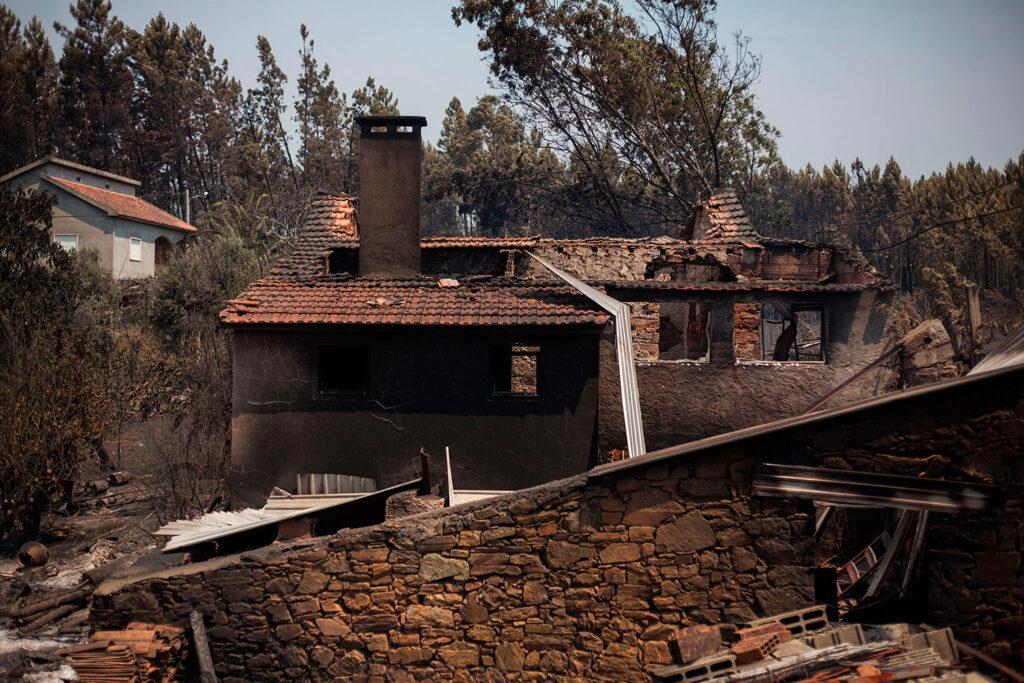 casas ardidas no incêndio de pedrógão grande