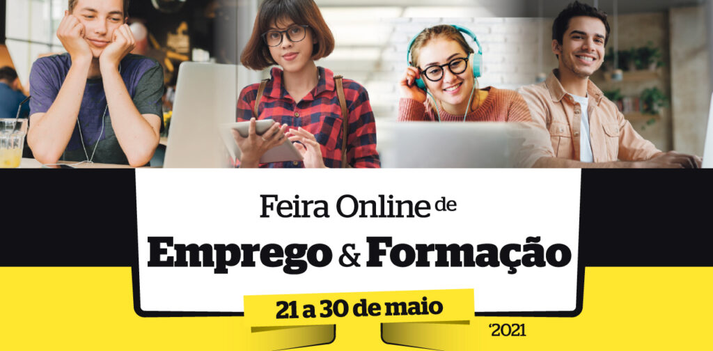 imagem promocional da feira online de emprego e formação organizada pelo jornal Região de Leiria